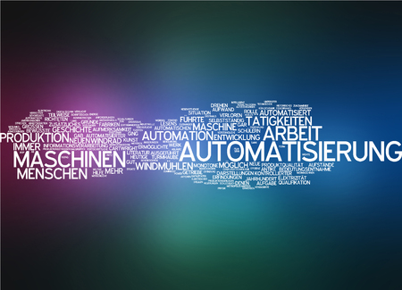 job functions: Word cloud - automation Stock Photo