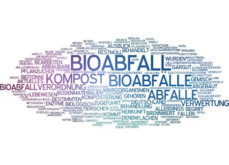 Word cloud - Bioabfall Standard-Bild - 34759576