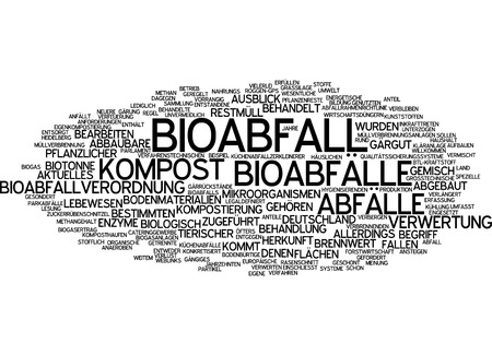 Word cloud - Bioabfall Standard-Bild - 34759575
