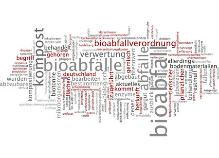 Word cloud - Bioabfall Standard-Bild - 34759603