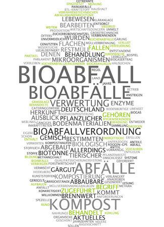 Word cloud - Bioabfall Standard-Bild - 34759608