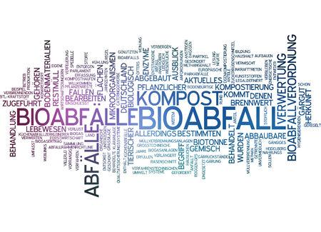 Word cloud - Bioabfall Standard-Bild - 34759611