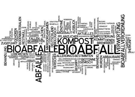 Word cloud - Bioabfall Standard-Bild - 34759612