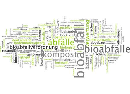 Word cloud - Bioabfall Standard-Bild - 34759615
