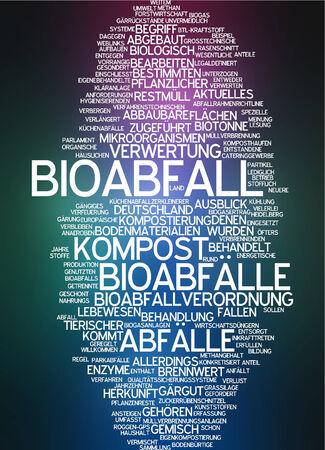 Word cloud - Bioabfall Standard-Bild - 34759633
