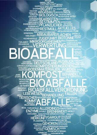 Word cloud - Bioabfall Standard-Bild - 34759635