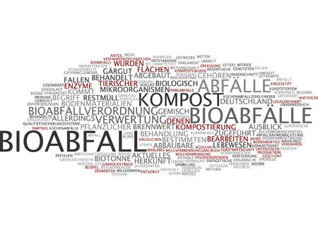 Word cloud - Bioabfall Standard-Bild - 34759636