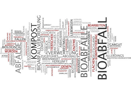 Word cloud - Bioabfall Standard-Bild - 34759637