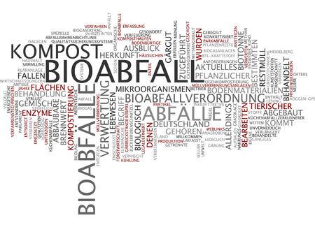 Word cloud - Bioabfall Standard-Bild - 34759638