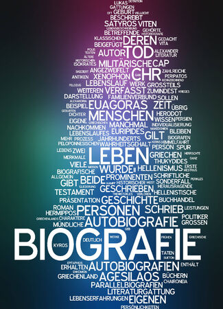 Word cloud - biography photo