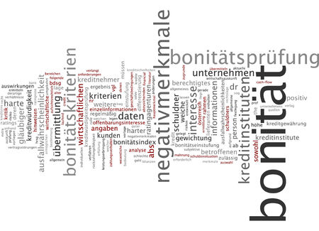 validity: Word cloud - credit-worthiness Stock Photo
