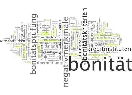 creditworthiness: Word cloud - credit-worthiness Stock Photo