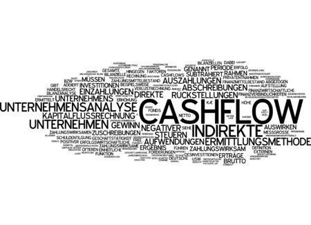 valuta: Word cloud - cashflow