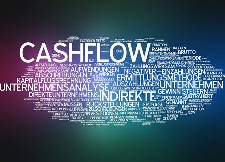 cashflow: Nube de palabras - de flujo de caja