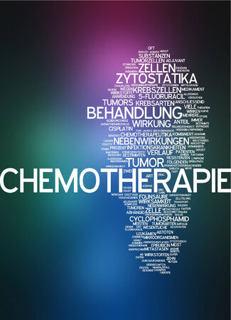 side effect: Word cloud - chemotherapy Stock Photo