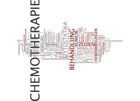 neoplasm: Word cloud - chemotherapy Stock Photo