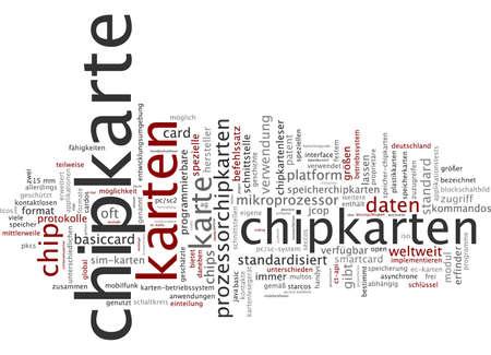 Word cloud - chip card 版權商用圖片