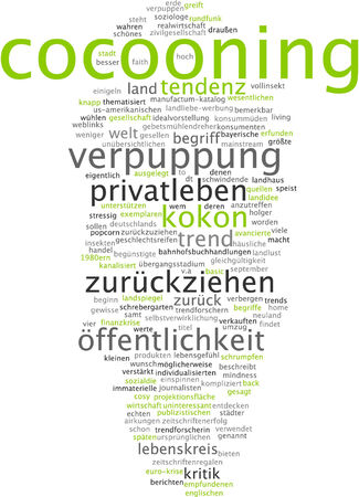 tendency: Word cloud - cocooning
