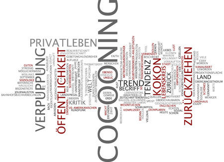 cocooning: Word cloud - cocooning