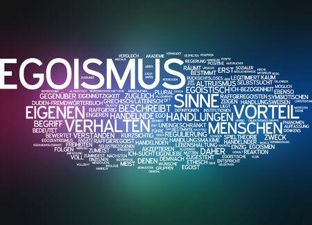 behaviour: Word cloud - egoism