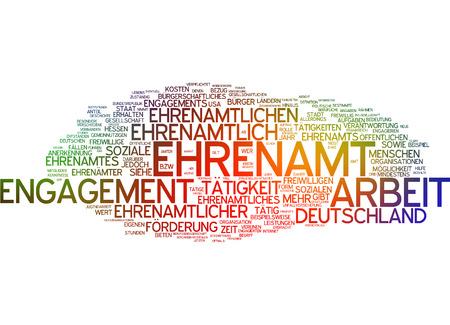 Word cloud - Ehrenamt Standard-Bild - 34762399