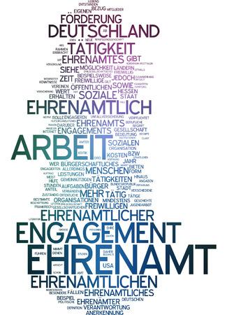 Word cloud - Ehrenamt Standard-Bild - 34762401