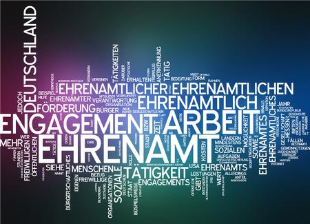 Word cloud - Ehrenamt Standard-Bild - 34762404