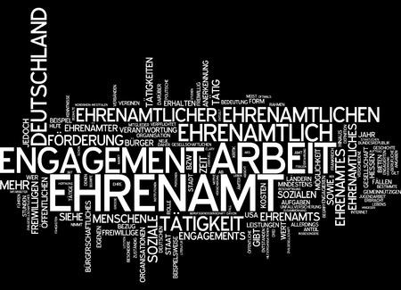 Word cloud - Ehrenamt Standard-Bild - 34762405