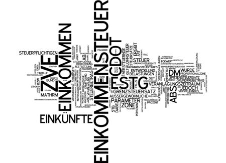 calculating: Word cloud - income tax Stock Photo