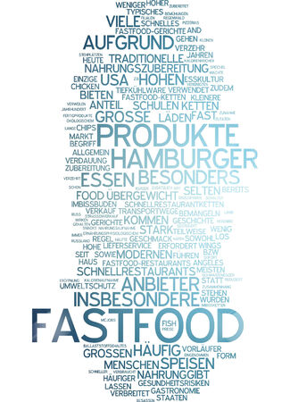 comida rápida: Nube de palabras - la comida r�pida