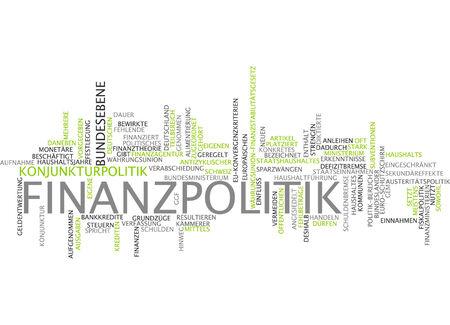 Word cloud - financial politics Stock Photo