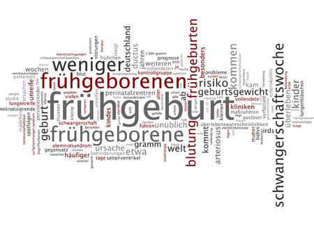 premature: Word cloud - premature birth Stock Photo
