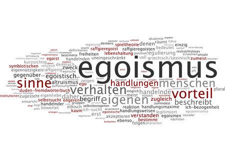behaviours: Word cloud - egoism