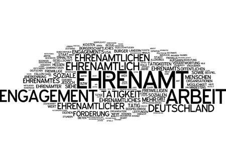 Word cloud - Ehrenamt Standard-Bild - 34762683