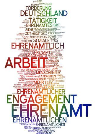 Word cloud - Ehrenamt Standard-Bild - 34762684
