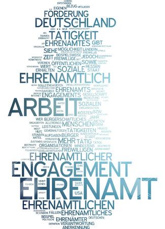 Word cloud - Ehrenamt Standard-Bild - 34762685