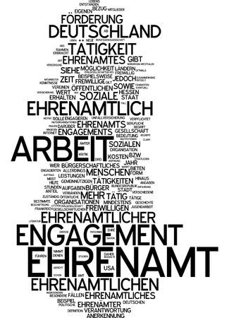 Wortwolke - Ehrenposten Standard-Bild - 34762687