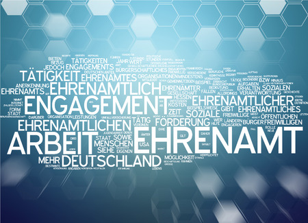 Word cloud - Ehrenamt Standard-Bild - 34762686