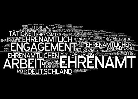 Word cloud - Ehrenamt Standard-Bild - 34762688