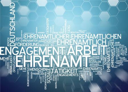 Word cloud - Ehrenamt