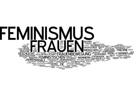 feminism: Word cloud - feminism