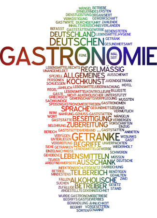 gastronomy: Word cloud - gastronomy Stock Photo