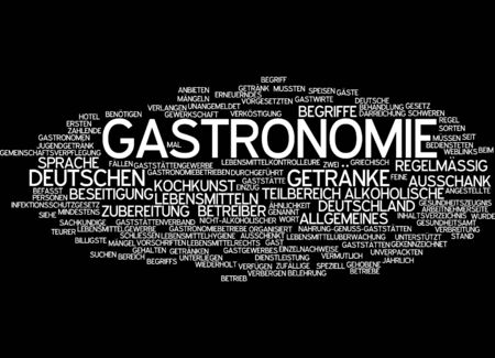 Word cloud - gastronomy Stock Photo