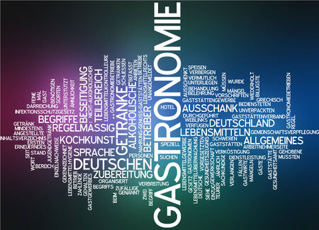 comida alemana: Nube de palabras - Gastronomía Foto de archivo