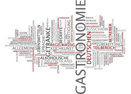 culinary skills: Word cloud - gastronomy Stock Photo