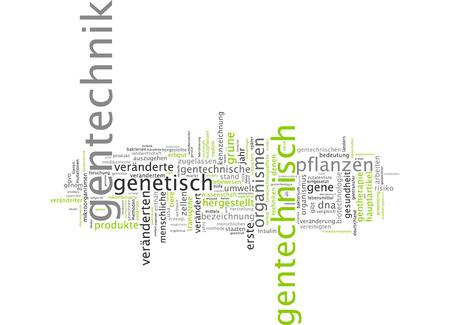 genetic engineering: Word cloud - genetic engineering Stock Photo