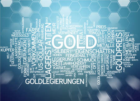 repository: Word cloud - gold Stock Photo