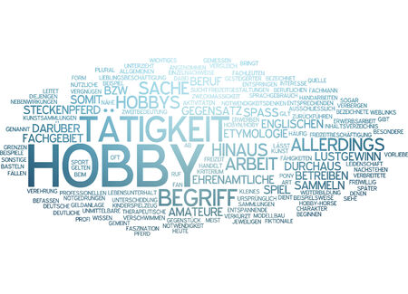 hobby: Word cloud - hobby