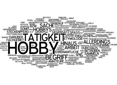 hobby: Word cloud - hobby