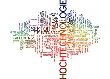 hightech: Word cloud - high tech Stock Photo
